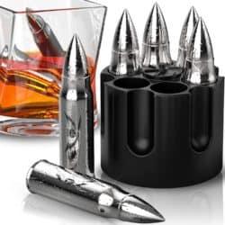 Regalos de navidad para papá - Piedras de whisky en forma de bala