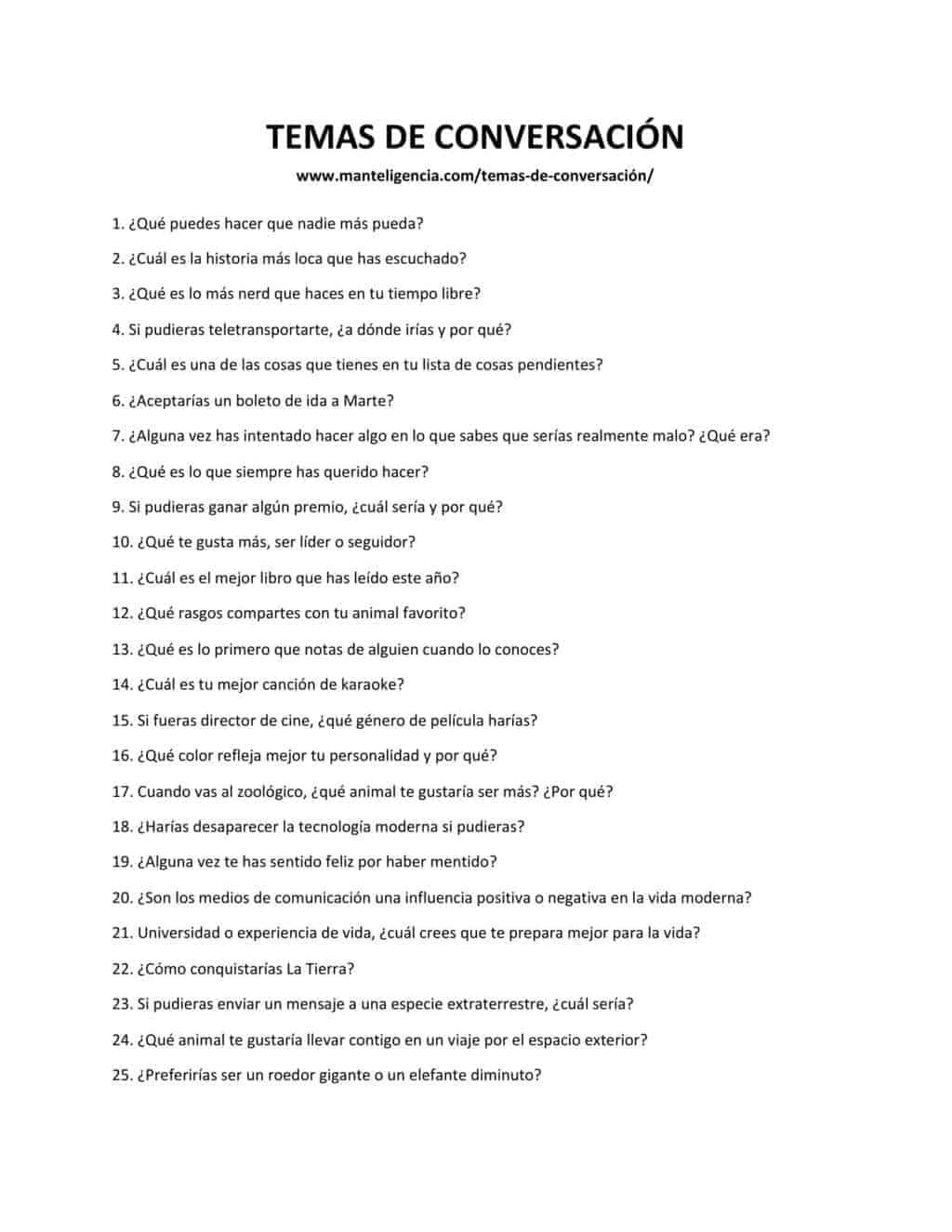 lista de preguntas descargable