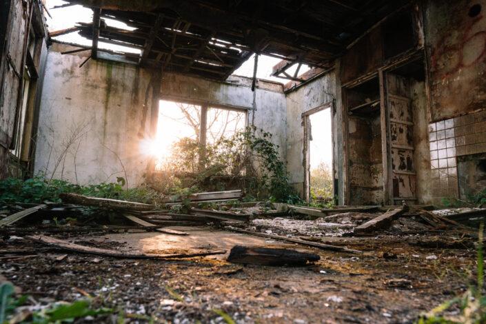 Restos de una casa en ruinas